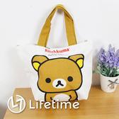〖LifeTime〗﹝拉拉熊帆布餃型便當袋﹞正版手提餐袋 便當袋 手提包 帆布袋 懶懶熊