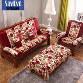 椅墊 沙發坐墊高密度加厚海綿實木沙發坐墊帶靠背秋可拆卸 萬客居