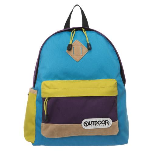 OUTDOOR 創意拼貼系列-迷你後背包-藍黃 OD0172SPG
