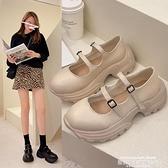 娃娃鞋 小皮鞋女2021新款春夏厚底鬆糕鞋粗跟復古瑪麗珍娃娃鞋jk高跟單鞋 萊俐亞