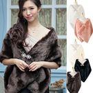 美之札[3512-S]長款加厚仿兔毛皮草保暖禮服搭配披肩~美之札