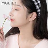 耳釘冰淇淋耳釘女純銀韓國氣質簡約甜美愛心個性耳環 夢依港