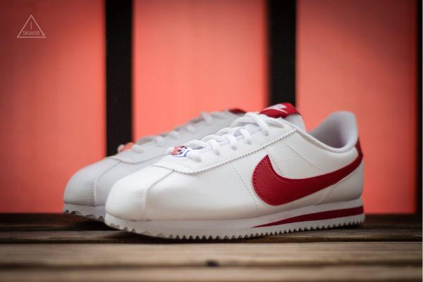 ISNEAKERS Nike Cortez Basic SL (GS) 皮革 鐵牌 阿甘鞋 白色 紅勾 904764-101
