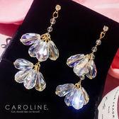 《Caroline》★韓國官網熱賣長款甜美浪漫風格時尚流行耳環69976