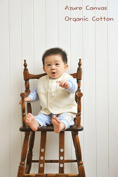 藍天畫布-100%有機棉 嬰幼兒鋪棉背心(70cm/ 90cm)