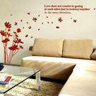 相框壁貼紅花花朵花瓣花卉 客廳餐廳臥室教室裝潢佈置牆貼 《Life Beauty》