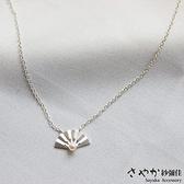 【Sayaka紗彌佳】純銀文創風格古典美人摺扇造型珍珠項鍊