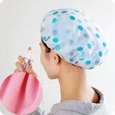 浴帽防水吸水兩用雙層多功能加厚印花洗澡沐浴淋浴成人女款干發帽