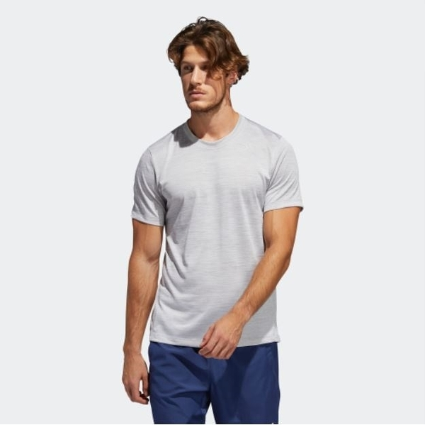 Adidas GRADIENT TEE 男款白色運動短袖上衣-NO.FL4391