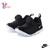 NIKE童鞋 寶寶鞋 男女童運動鞋 毛毛蟲鞋 慢跑鞋 跑步鞋 DYNAMO FREE (TD) Q7035#黑色◆OSOME奧森鞋業