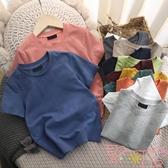 男童短袖t恤日系純棉T恤兒童夏季童裝半袖【聚可愛】