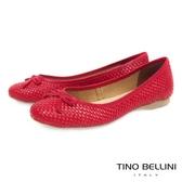 Tino Bellini巴西進口編織舒足娃娃鞋_紅 B73211 歐洲進口款