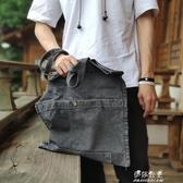 (快出)手提帆布包購物袋INS日繫托特包復古文藝日本男女簡約原創