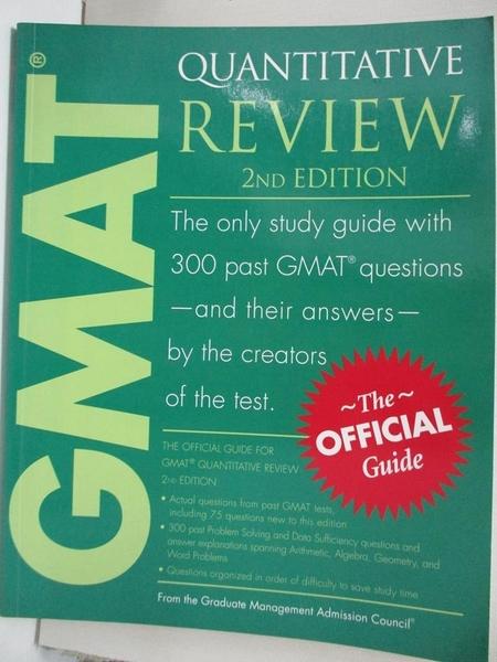 【書寶二手書T8/語言學習_KSV】Gmat Quantitative_Graduate Management Admission Council (GMAC)