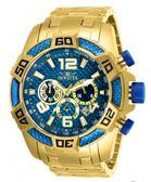 瑞士Invicta Pro Diver 潛水員系列 藍金經典色 三眼日期窗男錶 25852 瑞士錶 計時碼表 男士手錶