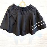 棒棒糖童裝(B112022)夏女大童黑色運動風短裙(內有安全褲)120-165