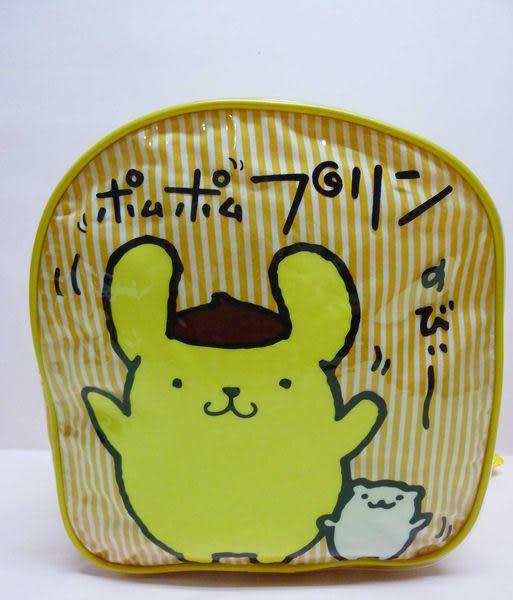 【震撼精品百貨】Pom Pom Purin 布丁狗~防水面後背包『橘黃直條紋』