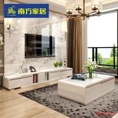 伸縮電視櫃 現代簡約鋼化玻璃電視櫃小戶型北歐伸縮客廳邊櫃T 1色 快速出貨