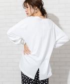 女 T恤 上衣 後開衩袖 USA美國棉 日本品牌【coen】