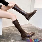長筒靴 靴子女中筒靴2021秋冬新款網紅時尚瘦瘦靴小個子長靴不過膝騎士靴 寶貝計畫