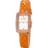 Folli Follie STYLE CODE 晶鑽彩漾手錶-銀x橘/22mm WF16B026SSW-OR