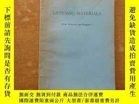 二手書博民逛書店listen罕見materials(錄音材料)18483