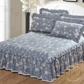 床裙 床笠純棉床裙式單件床罩全棉床套床笠保護套席夢思防塵罩1.8m1.5米床-凡屋