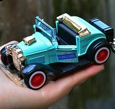 汽車模型 復古老爺車仿真合金汽車模型聲光回力兒童玩具皮卡車運輸貨車【快速出貨八折鉅惠】