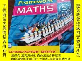 二手書博民逛書店framework罕見maths 7 S HOMEWORK BO