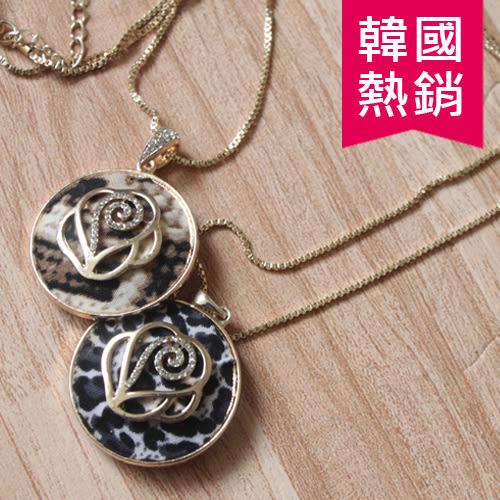 韓版 熱銷 時尚 新款 圓形 玫瑰花 背部 鏤空 特殊設計 項鍊