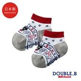 DOUBLE_B 日本製 變形蟲針織男童襪(白)