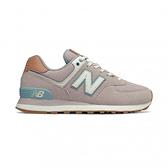 New Balance 574系列 女款粉色復古慢跑鞋-NO.WL574BCN