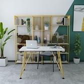 置物架 簡約隔斷辦公室書架落地工業風多層貨架輕奢客廳置物架創意展示架 宜品
