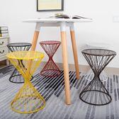 尾牙年貨 鐵藝餐桌凳北歐小椅子家用登高歐式現代簡約