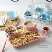 陶瓷餐盤兒童多格盤子創意早餐盤套裝餐具