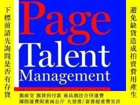 二手書博民逛書店One罕見Page Talent ManagementY256260 Marc Effron Harvard