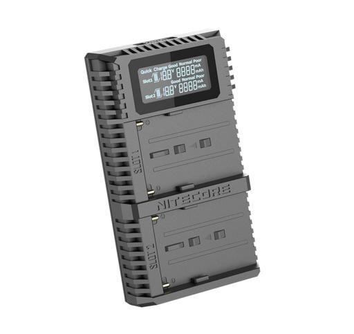 NITECORE USN3 Pro USB 雙slot快速充電器 適用 SONY NP-F750 / NP-F970 / NP-F550 / NP-FM500H