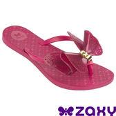 5折 Zaxy  Butterfly 蝴蝶結 女人字拖鞋 ZA8182390175 桃紅[陽光樂活]