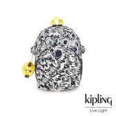 Kipling 鉛筆塗鴉童趣猴臉兒童雙肩包-FASTER