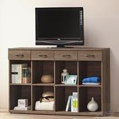 【水晶晶家具/傢俱首選】CX1480-1 安寶灰橡5尺低甲醛木心板置物櫃