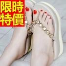 厚底拖鞋典雅-精美休閒透氣夏季女涼鞋子2色54l54【巴黎精品】