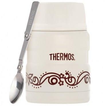 THERMOS膳魔師 不鏽鋼真空保溫悶燒罐/食物罐470ml 香草歐蕾