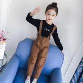 女童套裝秋裝新款兒童洋氣童裝中大童潮衣打底衫背帶褲兩件套 依夏嚴選