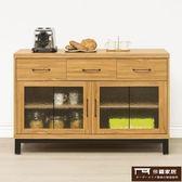 【這家子家居】柚木系 工業風 廚櫃 置物櫃 開放式 書架 層架 收納架 置物架 書櫃 (120CM)【C1080】
