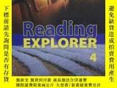 二手書博民逛書店Reading罕見EXPLORER 4【含光盤一張 】大16開Y