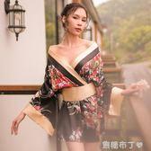 日本和服睡衣女秋冬浴衣性感睡袍浴袍改良櫻花正裝情趣內衣日系  一米陽光