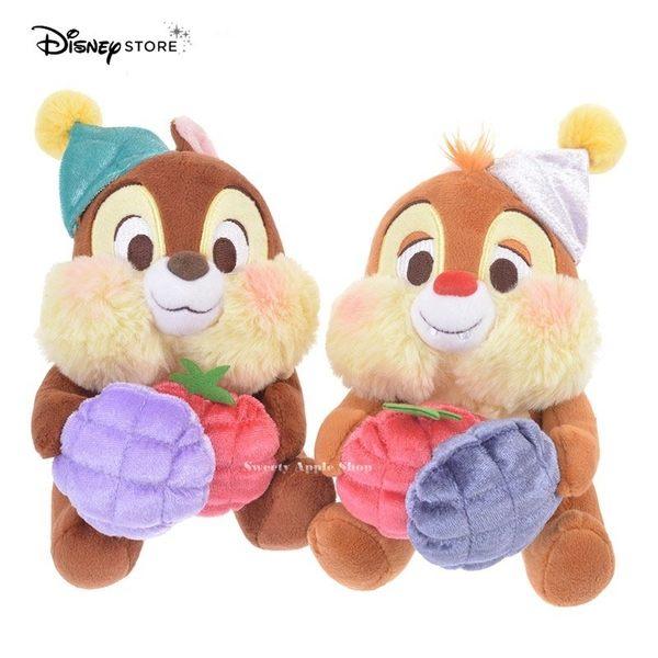 日本限定 DISNEY STORE 迪士尼商店 奇奇蒂蒂 果物系列 玩偶娃娃 對偶套組