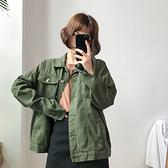 女裝復古百搭單排扣長袖牛仔外套秋裝寬鬆休閒純色夾克衫上衣 - 風尚3C