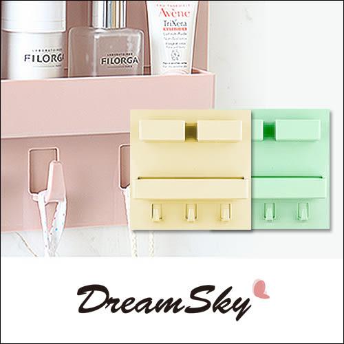 家用 黏貼式 牆上 收納 置物架 收納架 (小號) 隨機出貨 Dreamsky