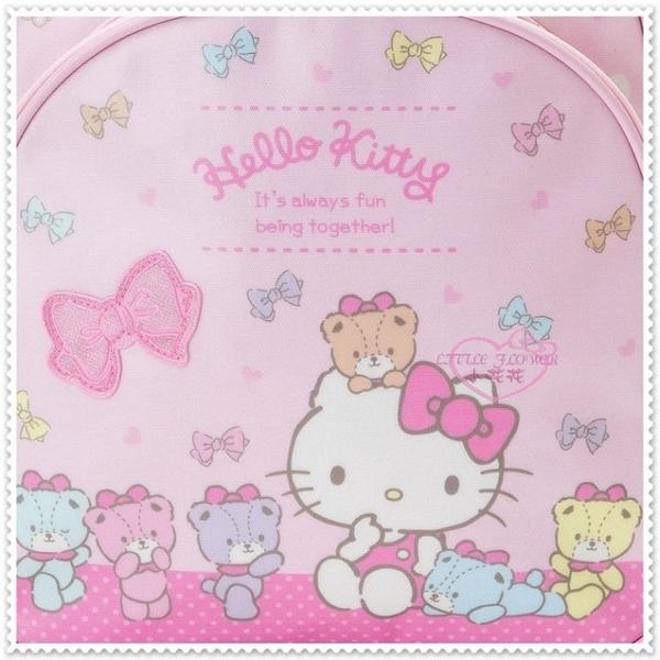 小花花日本精品♥Hello Kitty 彩色熊系列.粉色.愛心.蝴蝶結 防水材質 多夾層 後背包 外出包42155607